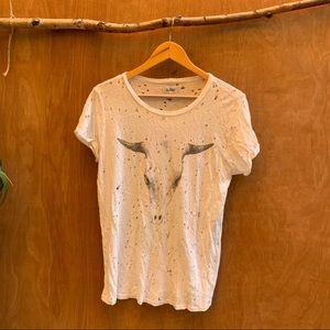 Lauren Moschi bull skull tee shirt